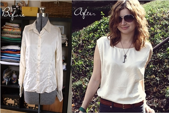 11wonderful-Ideas-to-Refashion-shirt-into-Chic-Top11