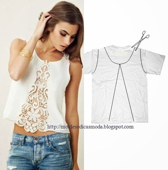 11wonderful-Ideas-to-Refashion-shirt-into-Chic-Top3