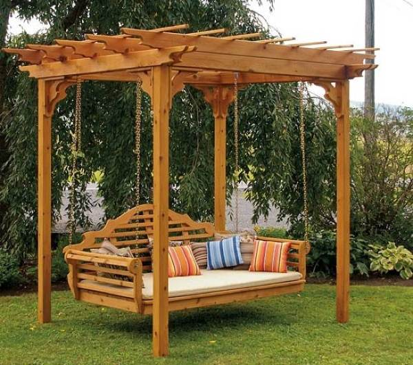 20+ DIY Patio y Jardín Columpios