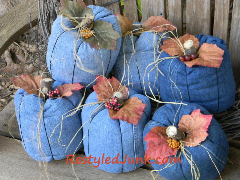 Create-a-fun-denim-country-pumpkins