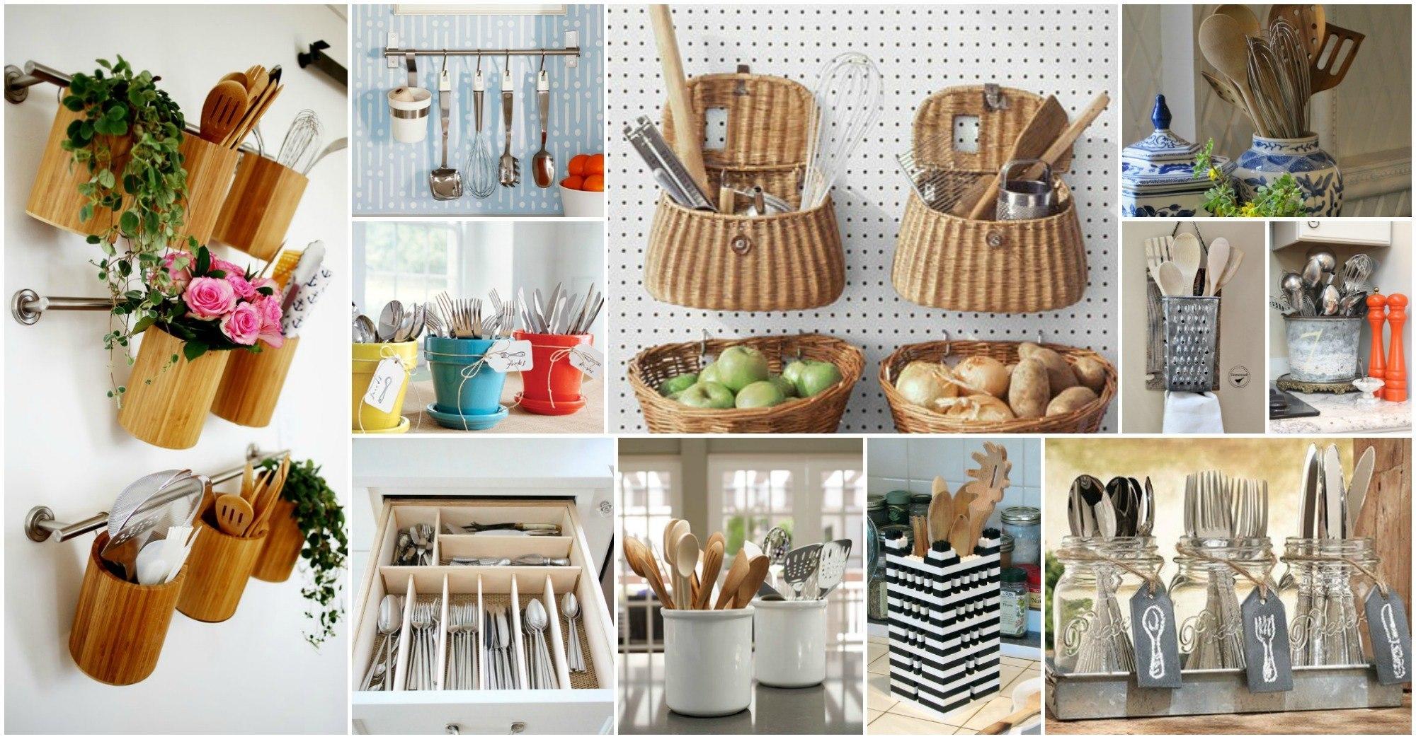 Ingeniosas formas para organizar los utensilios de cocina for Utensilios para cocina