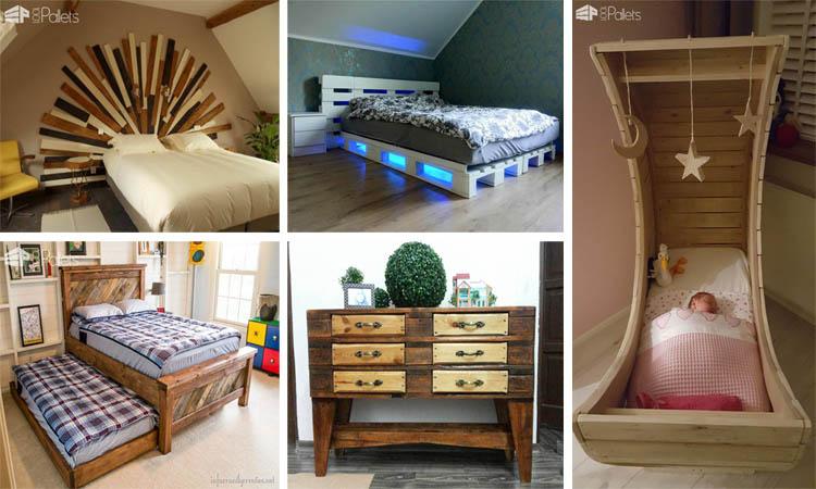 12 maravillosos proyectos con palets para decorar dormitorios - Dormitorios con palets ...