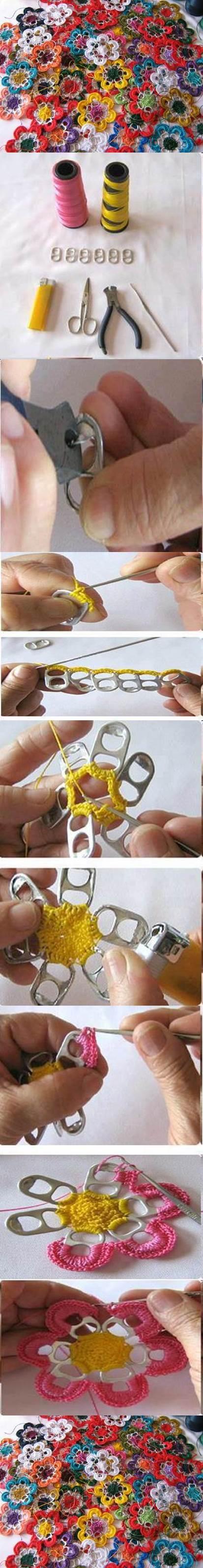 DIY-Pull-Tabs-Crochet-Flowers