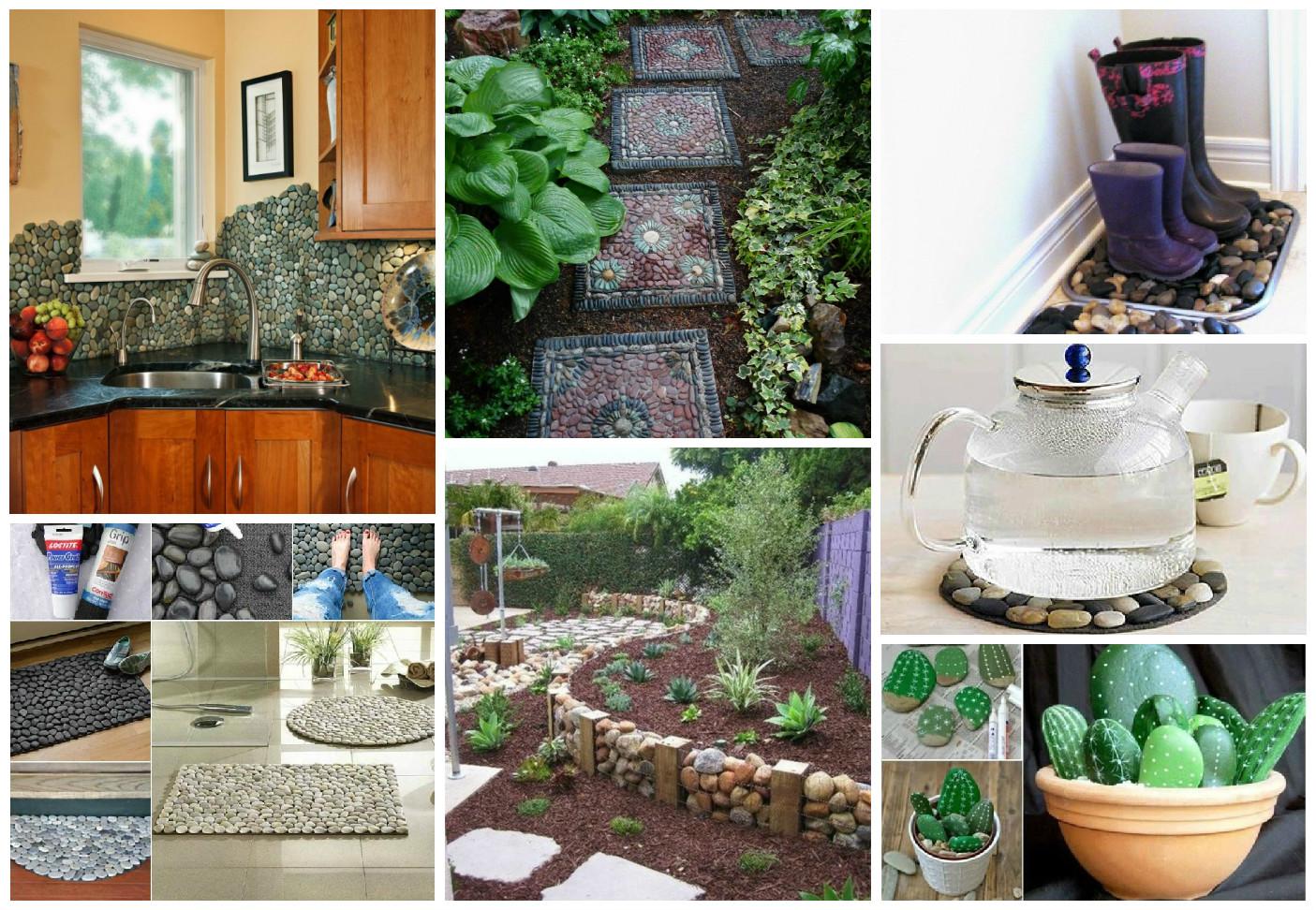 Sorprendentes ideas para decorar con piedras - Piedras para decorar ...