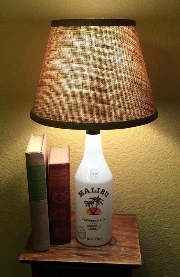 15 Ideas Inspiradoras Para Hacer Lamparas Con Botellas De Cristal - Ideas-para-hacer-lamparas