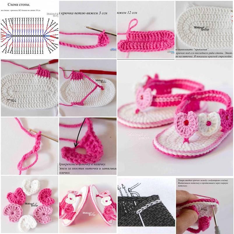 Moderno Los Patrones De Crochet Sandalias De Bebé Colección - Manta ...
