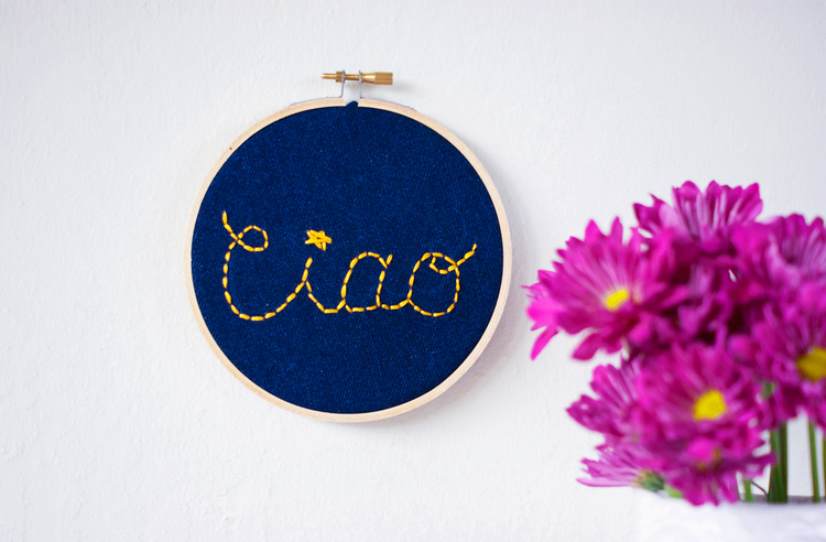 Turn-old-jeans-into-this-charming-embroidered-wall-sign