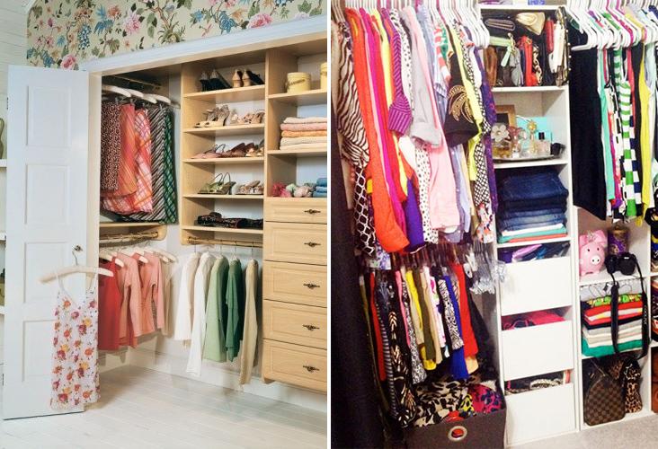 15 maravillosos trucos para organizar tu peque o cl set - Como organizar un armario empotrado pequeno ...