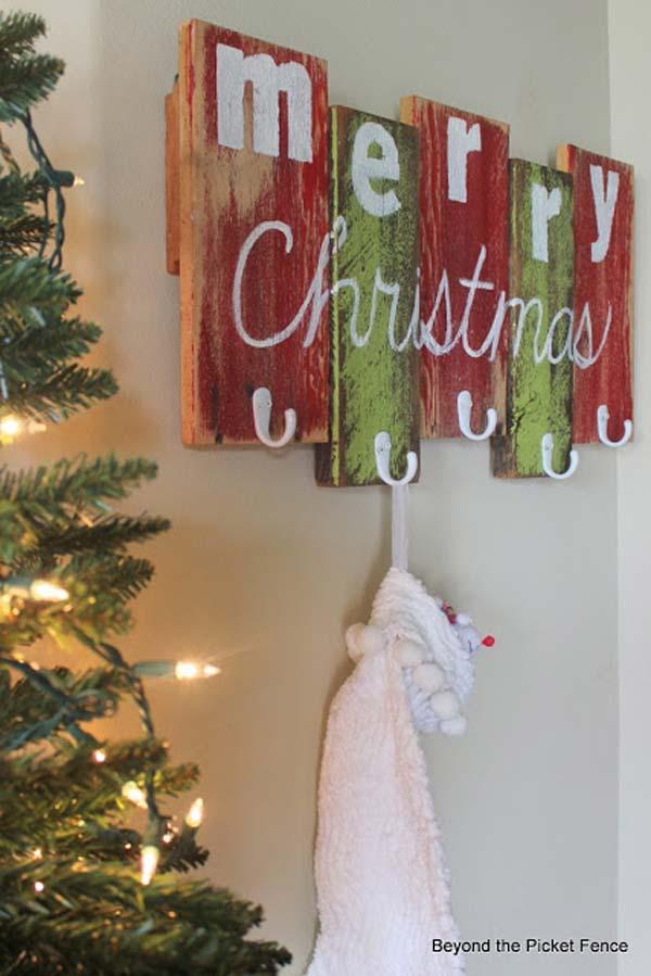 30+ Fantásticas Decoraciones de Navidad con Madera Reciclada