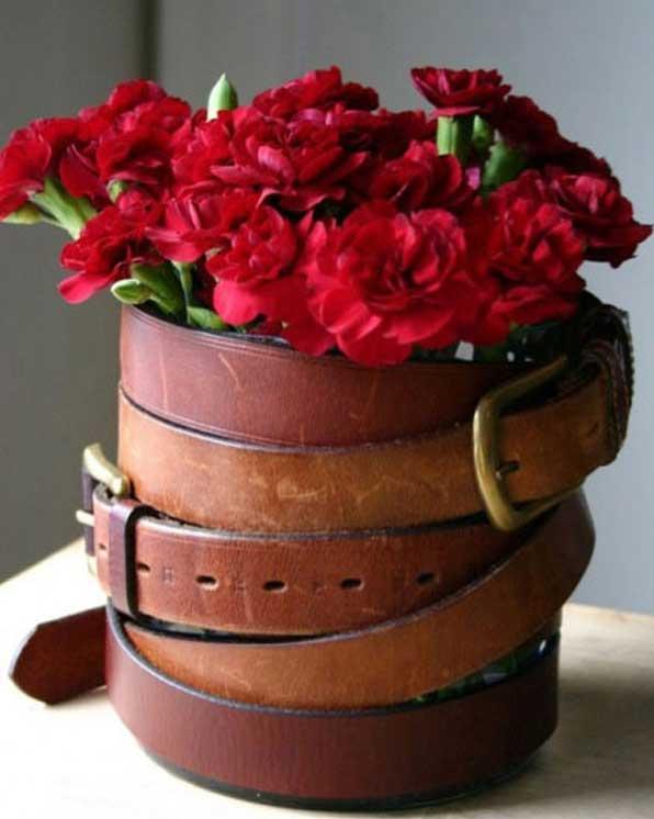 20+ ideas Originales para Decorar con Cinturones de Cuero Viejos