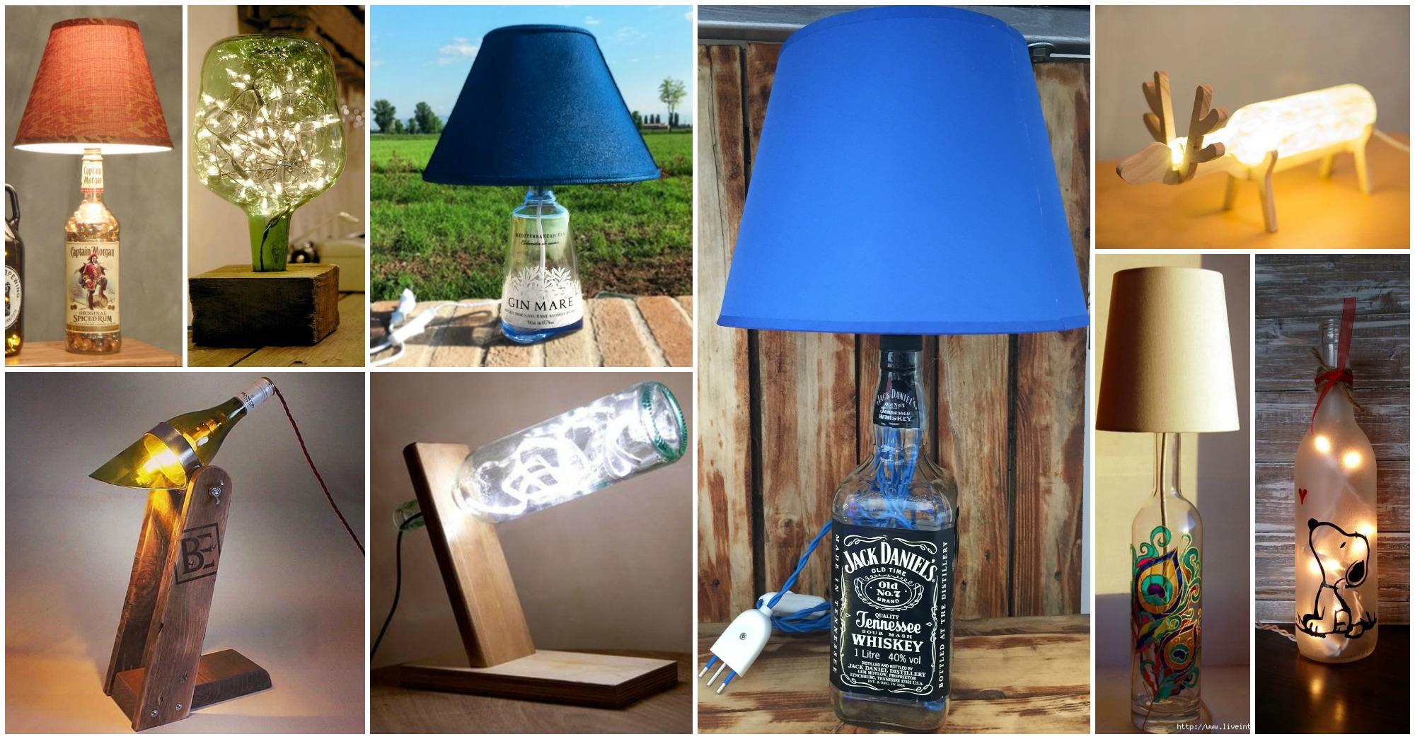 15 ideas inspiradoras para hacer l mparas con botellas de cristal - Ideas para hacer lamparas ...