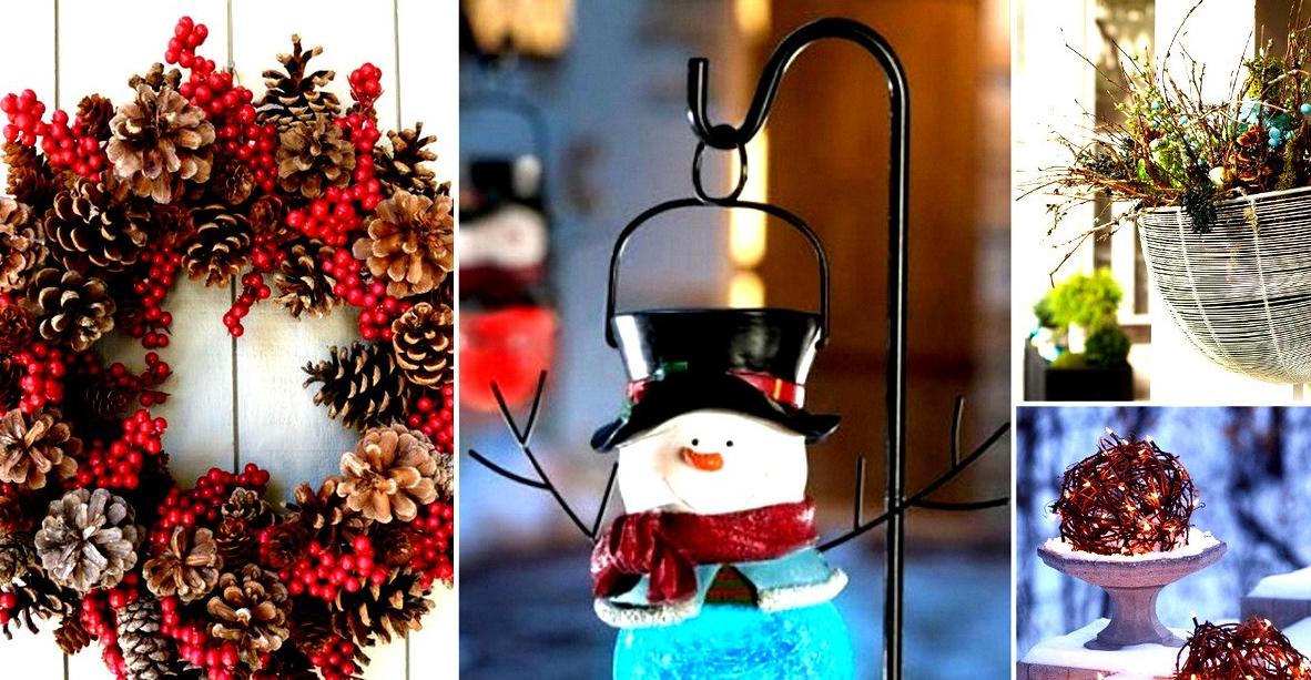 30 maravillosas decoraciones de navidad al aire libre - Decoraciones para navidad ...