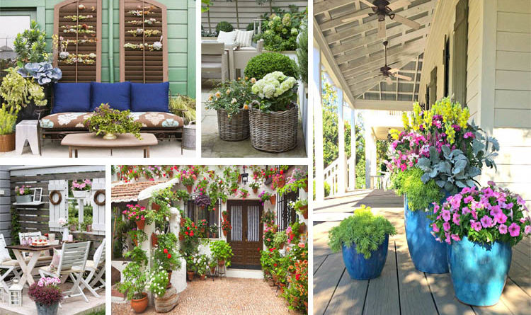15 maravillosas ideas para decorar patios y terrazas con for Ver patios decorados