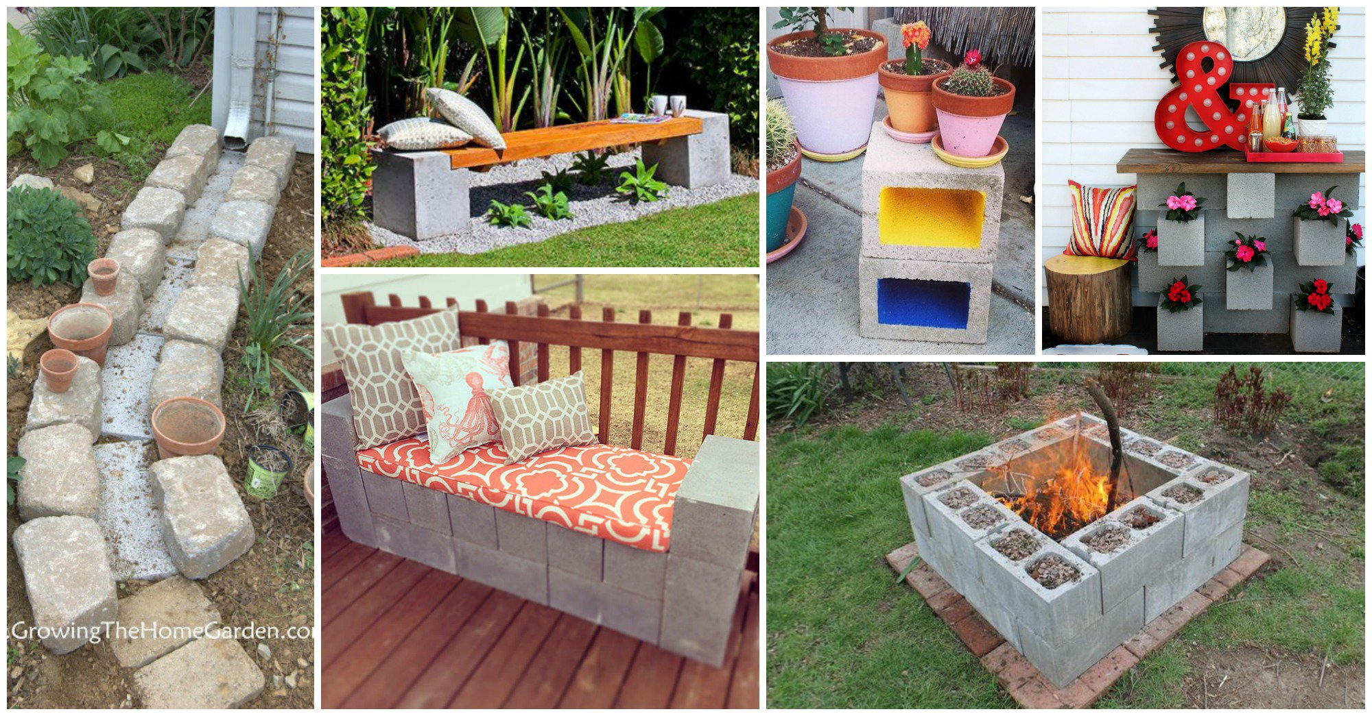 Diy Patio Furniture Cinder Blocks Ideas