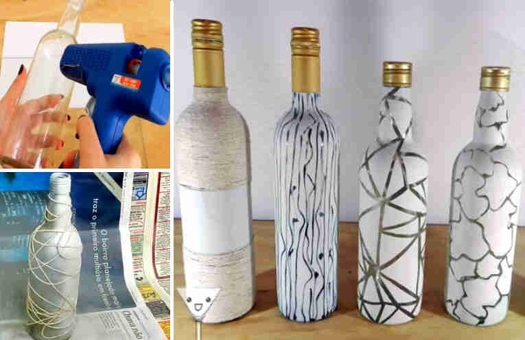 Ideas creativas para decorar botellas de vidrio - Como decorar botellas de vidrio ...