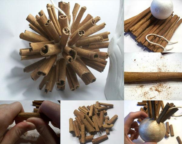 homemade-christmas-tree-ornaments-cinnamon-sticks-foam-ball
