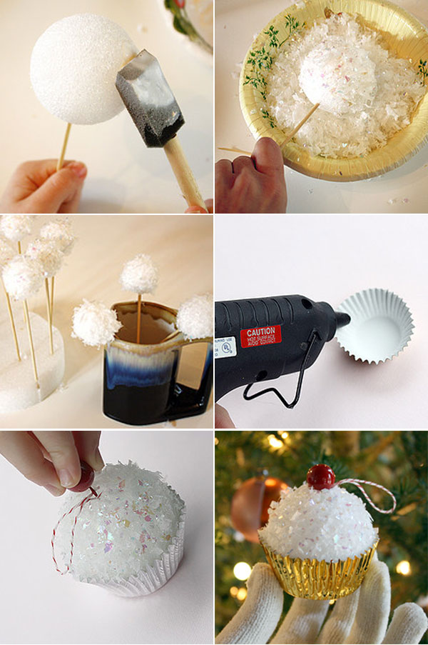 homemade-christmas-tree-ornaments-crafts-foam-ball-cupcakes