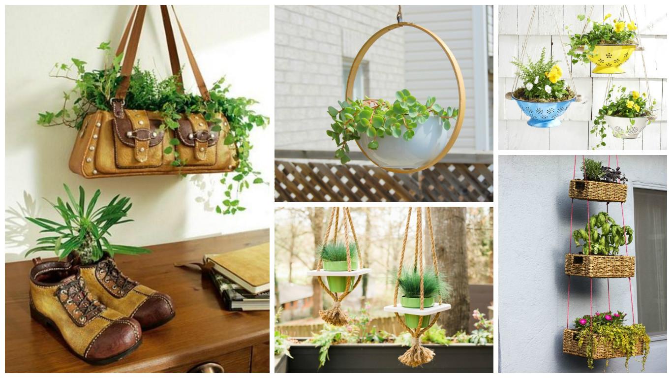 10 Ideas Jardineras Colgantes - Jardinera-colgante