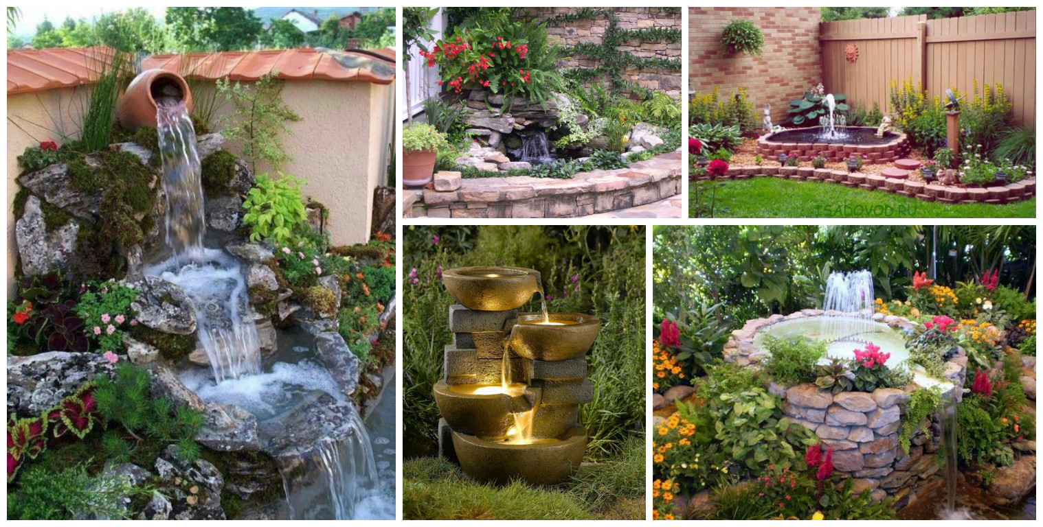 13 fuentes y estanques de agua que parece un aut ntico for Fuente estanque jardin