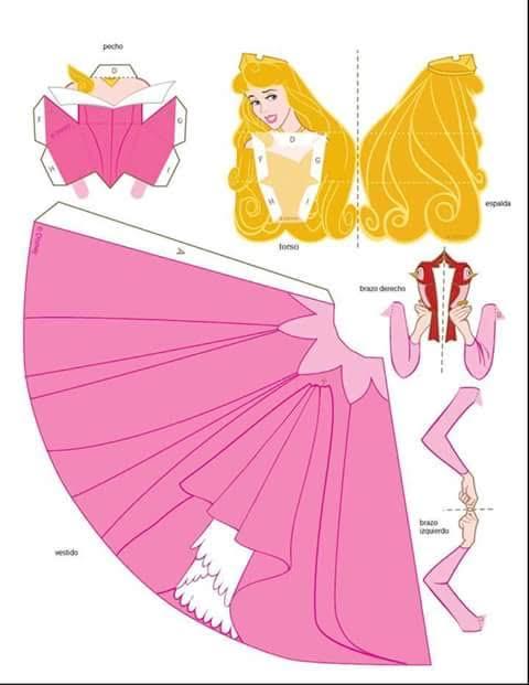 Moldes de las Princesas Disney