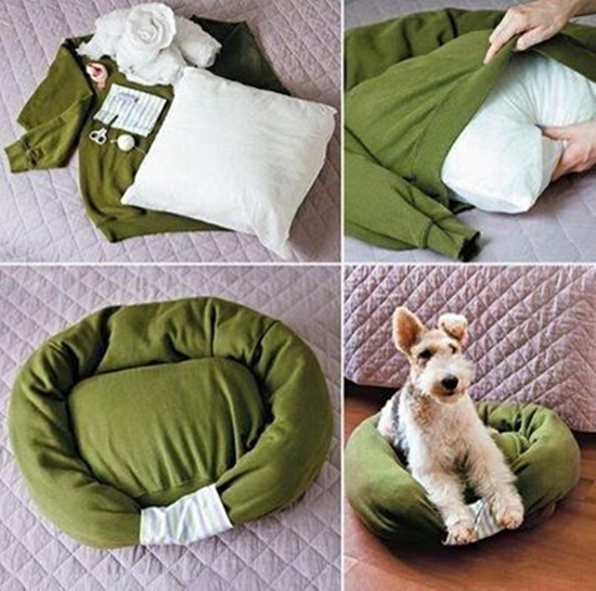 pet-bed-from-old-shirt1