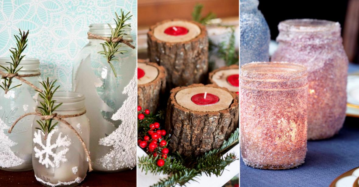 15 ideas originales para decorar portavelas para navidad - Ideas originales para decorar en navidad ...