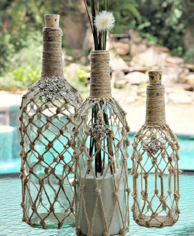20+ Creativas Ideas para Reciclar Botellas de Vidrio que Amarás Tener