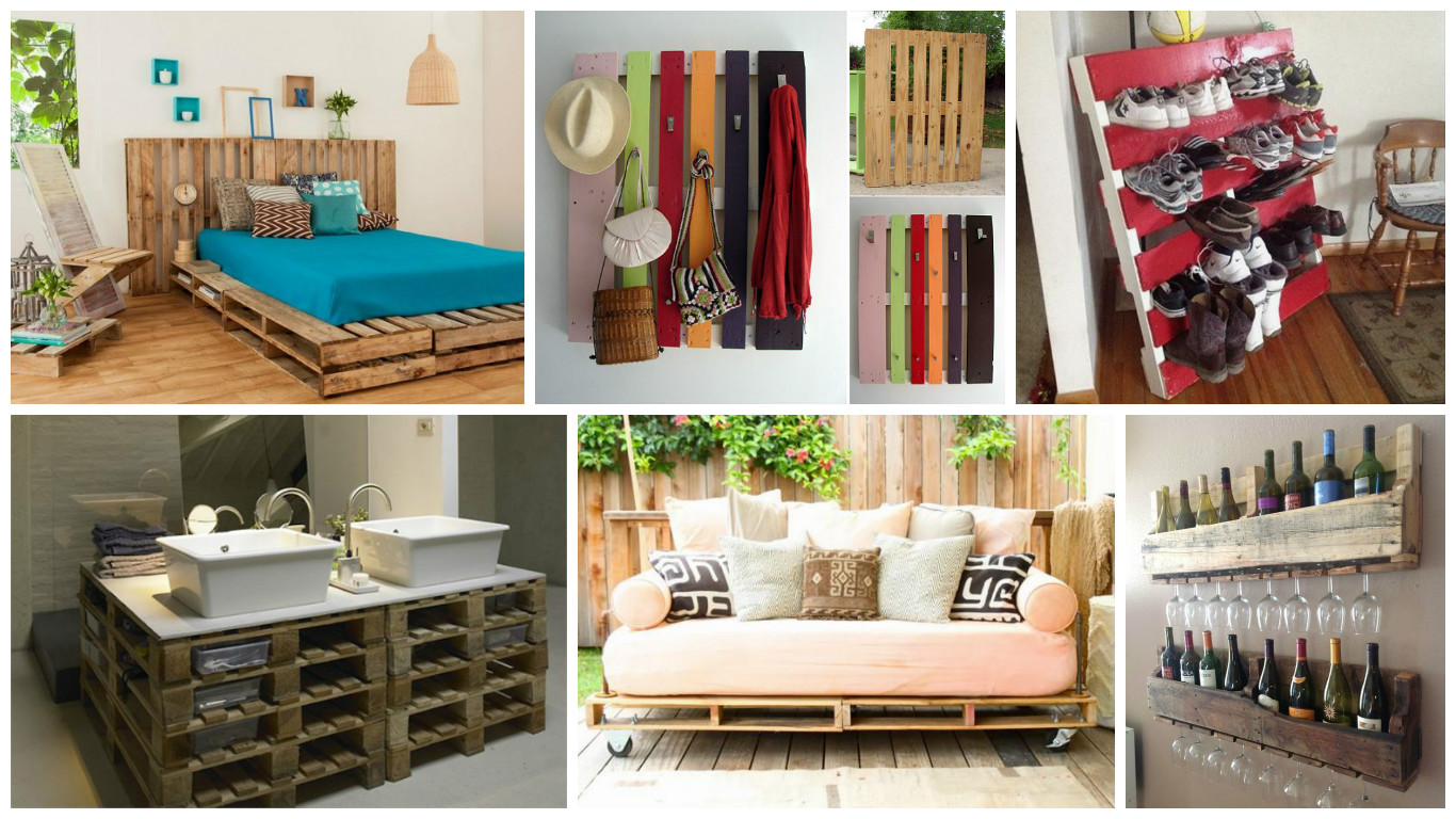 15 ideas creativas para reciclar palets de madera - Ideas para reciclar muebles ...