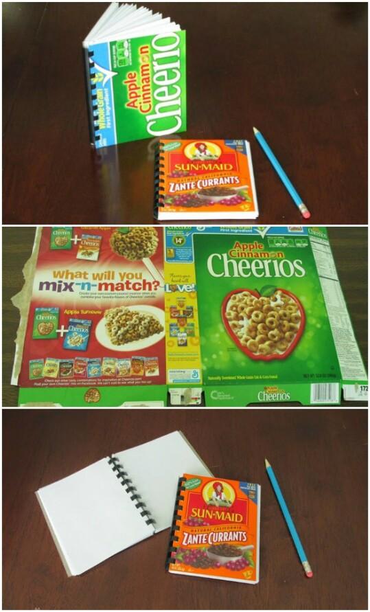 manualidades con cajas de cereal