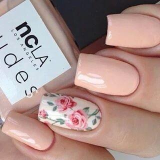 15+ Ideas para Decorar las Uñas con Rosas